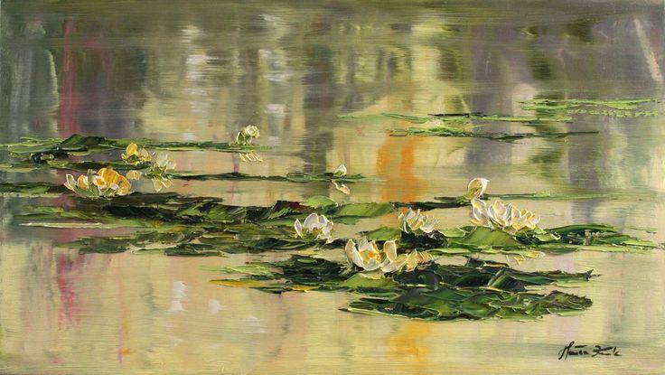"Obraz ""Poranna tafla jeziora"", nr katalogowy 328 - KRUKART"