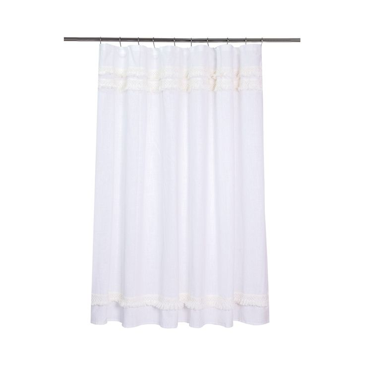 black and cream shower curtain. Keep your bathroom looking stylish with the Threshold Macrame Fringe Cream  Shower Curtain This shower Best 25 curtains ideas on Pinterest Elegant