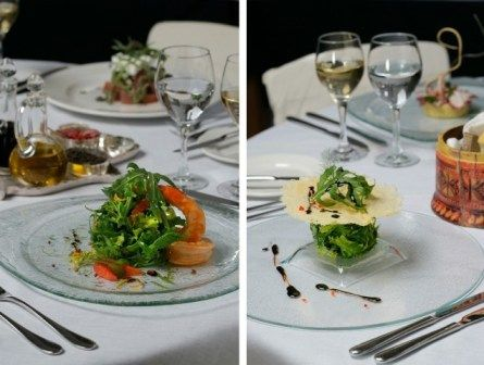 Appetizer Courses Served On Glass Dinner Plates For Fine Dining Plate Prese