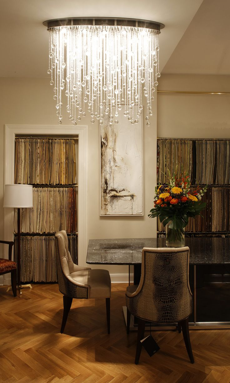 Lighting in this dining room Cascade Luminaire