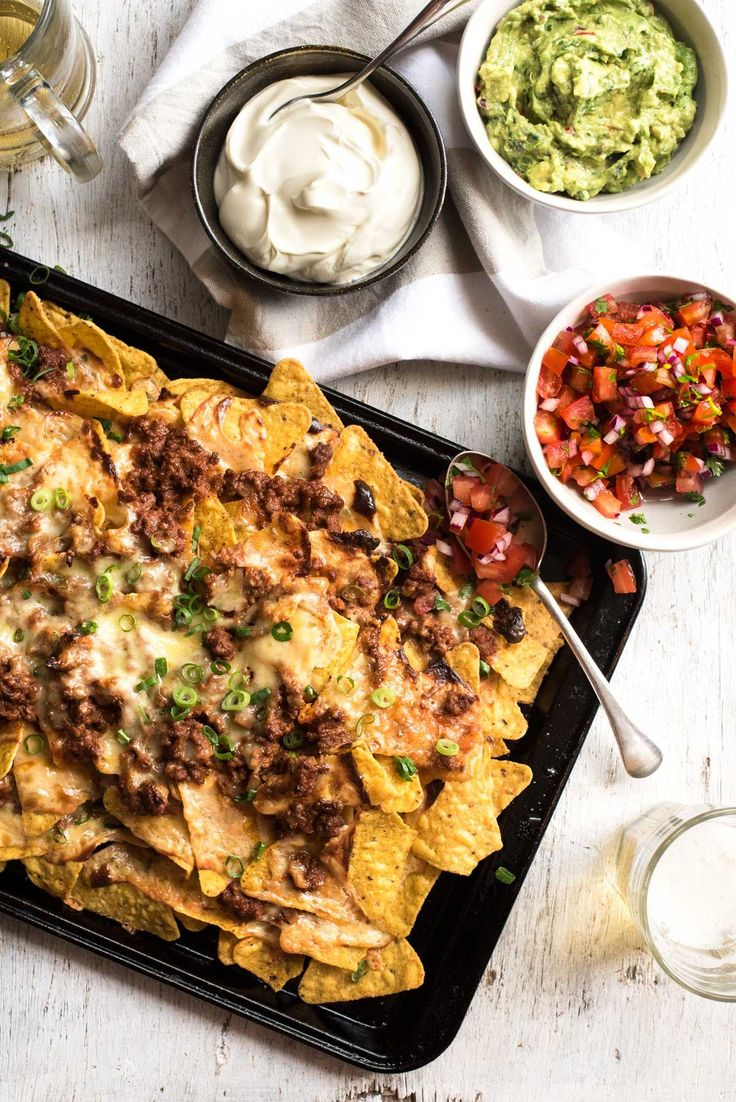 Ripper Beef Nachos - The secret to the ultimate nachos is a 5 ingredient, 5 minute Nachos Cheese sauce! | RecipeTin Eats