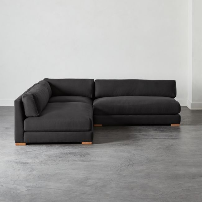 Piazza Dark Grey 3 Piece Modular Double Apartment Sofa Sectional