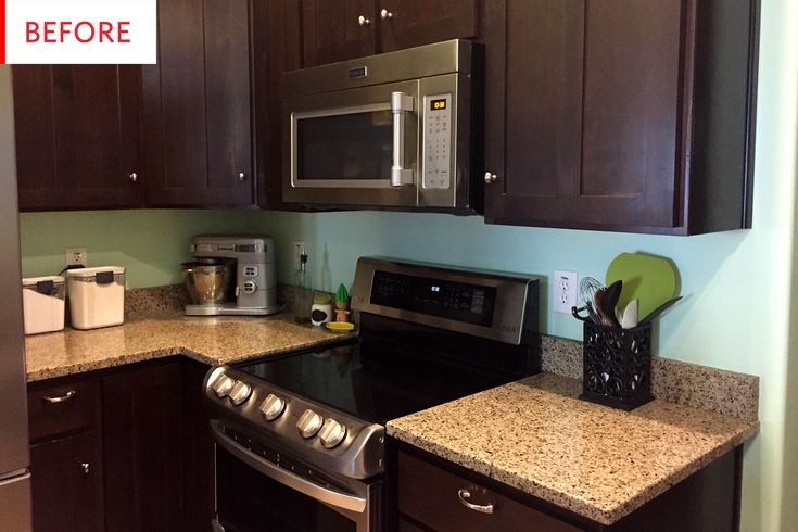 Before and After: A Quick $15 Rental Kitchen Cabinet Lighting Hack