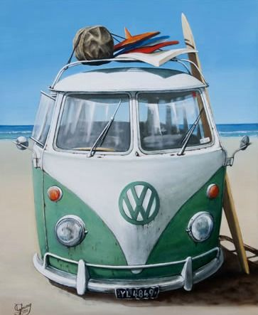 The Vee Dub Canvas Print by Graham Young for Sale - New Zealand Art Prints