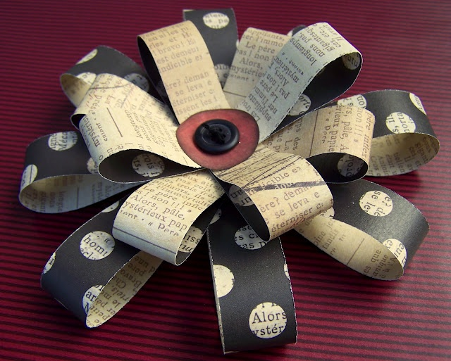 Paper Flower Bows... endless possibilities