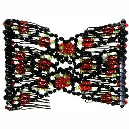 Beaded double hair comb;