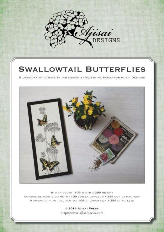 Gallery.ru / Фото #1 - Ajisai Designs - Swallowtail Butterflies - tymannost