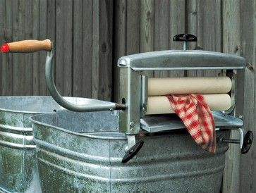 Best Hand Wringer - $199.95 »  Give your clothes dryer (a notorious energy hog) a break with this old-fashioned hand-cranked wringer from Lehman's. Squeezing the excess water from your clothes after washing will shorten drying time.