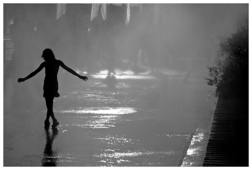 dance in the rain - silhouette | Photography | Rain ...