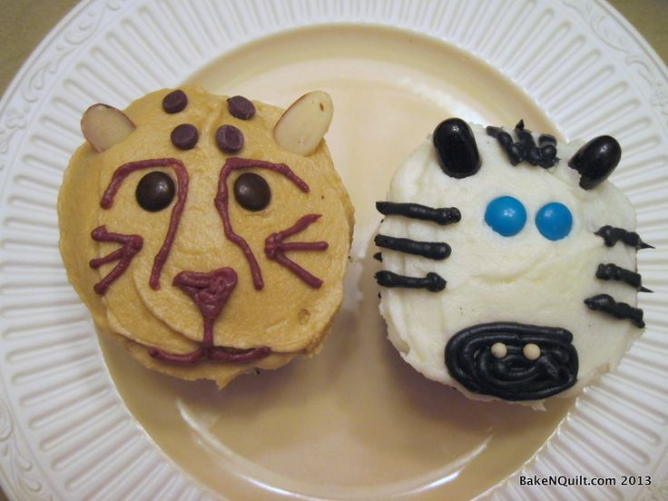 Cheetah and Zebra cupcakes for charity.
