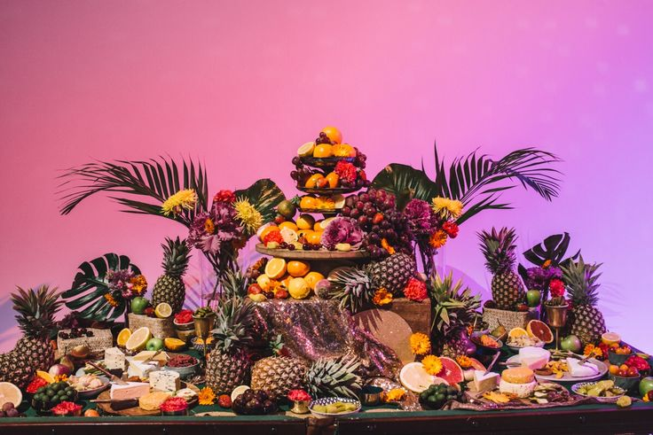 CUBAN THEME TROPICAL GRAZING TABLE