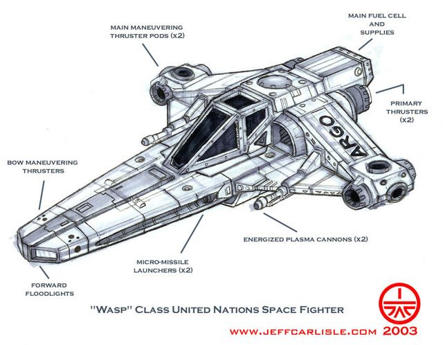"""Wasp"" Class United Nations Space Fighter"