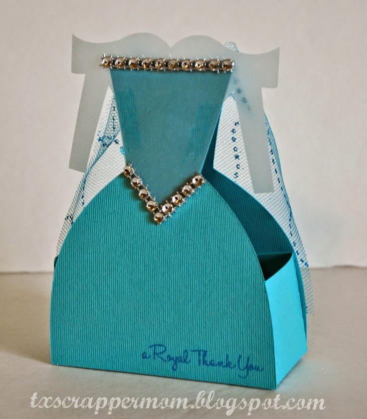 Tx Scrapper Mom - Elsa Princess Party Favor Dress Box (SVG Cutting Files) and Jaded Blossom 100% Princess stamp