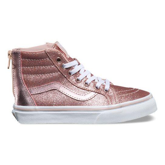 c7a13adf80 Kids Glitter   Metallic SK8-Hi Zip Shoes