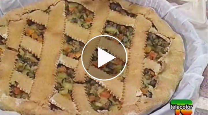 Video-ricetta in cui Esther Mozzi ci dimostra come preparare a casa la torta salata di grano saraceno, con ripieno di verdure primaverili.