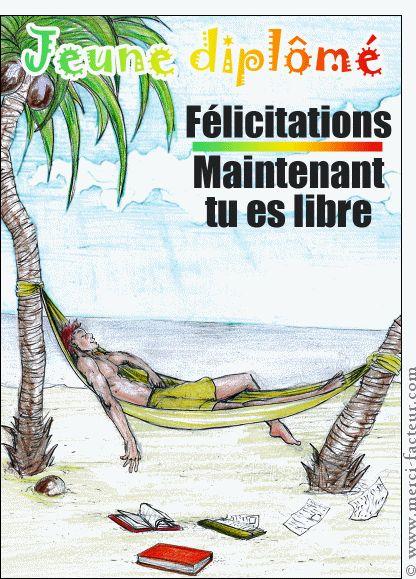 Carte La liberté du jeune diplomé pour envoyer par La Poste, sur Merci-Facteur !