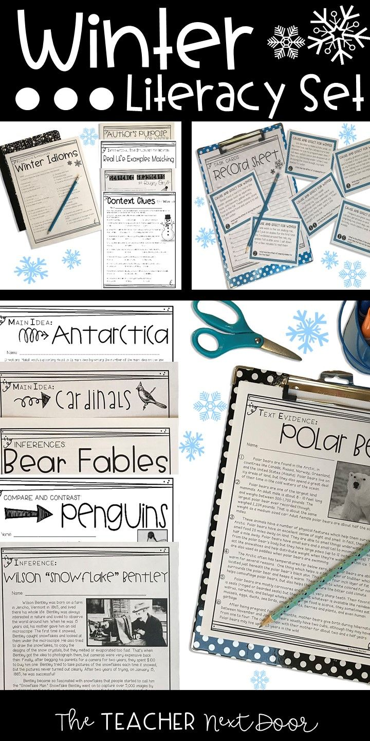 worksheet Ereading Worksheets Main Idea the 25 best text structure worksheets ideas on pinterest this winter literacy set is a 59 page packet filled with reading and writing activities which