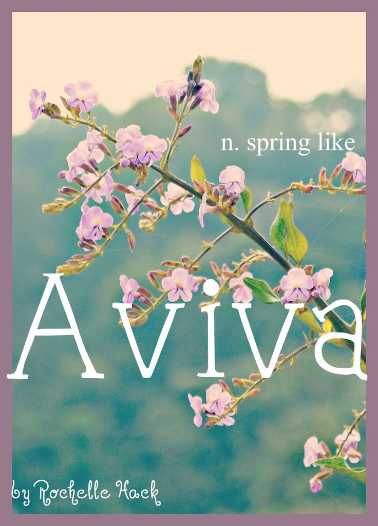 Baby Girl Name: Aviva. Meaning: Spring Like. Origin: Hebrew.  http://www.pinterest.com/vintagedaydream/baby-names/