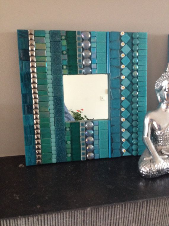 Mosaico mosaico de trullo decorativo espejo por CapolavoriDiMosaico