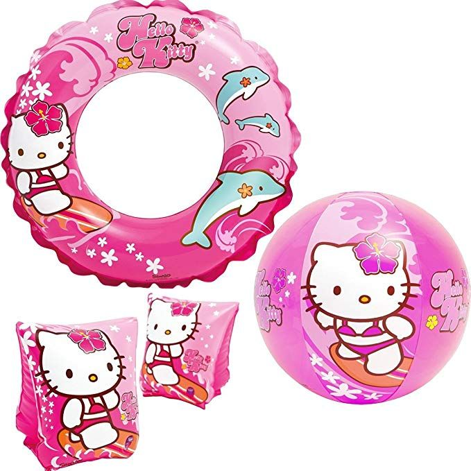 Intex Quot Hello Kitty Kids Accessories Swimming Set Set Includes Swim Ring Tube Pair Of Deluxe Arm Hello Kitty Accessories Hello Kitty Kids Accessories