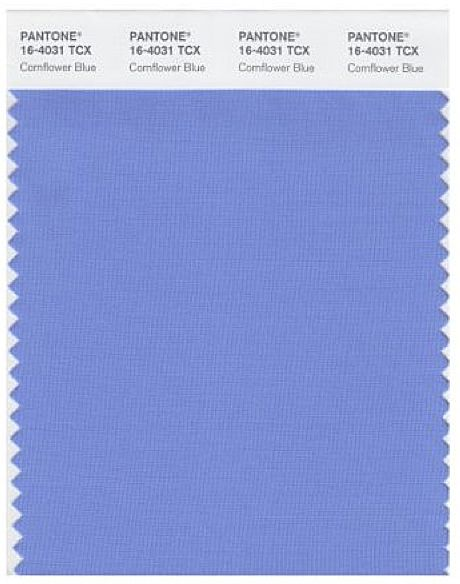 Close to Dramatic Color: Pantone Cornflower Blue, maybe with more blue/green or…