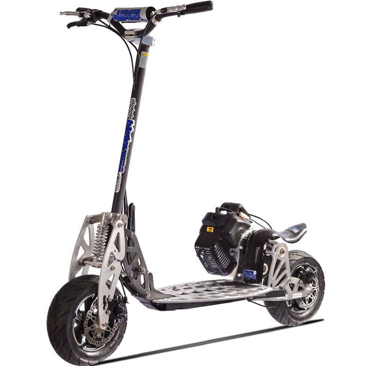 The UberScoot gas-powered scooter features an efficient 50cc two horsepower gas…