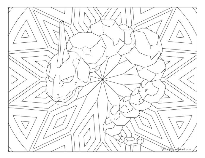 #095 Onix Pokemon Coloring Page | Pokemon coloring pages ...
