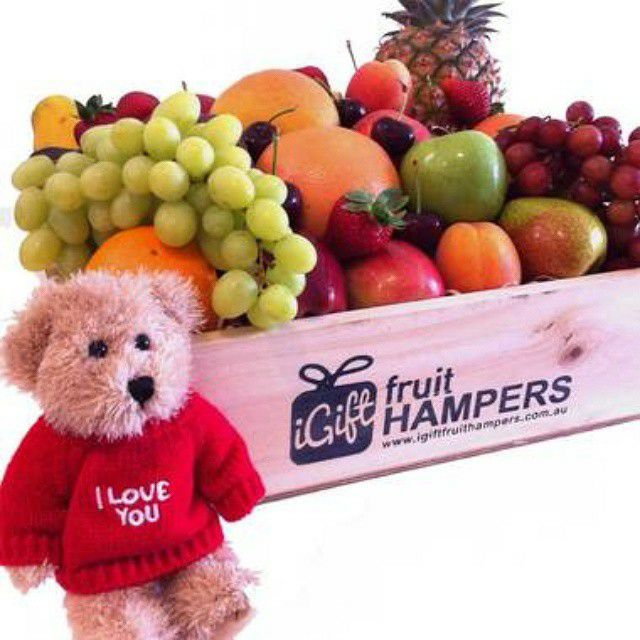I LOVE YOU HAMPER WITH MESSAGE BEAR  For Every Occasion .Go On #FruitHampers#FruitHamper#GiftHampers #HampersAustralia #gifts #freedelivery #giftbaskets #baskets #giftbasketssydney #giftbasketsmelbourne #giftbasketsaustralia