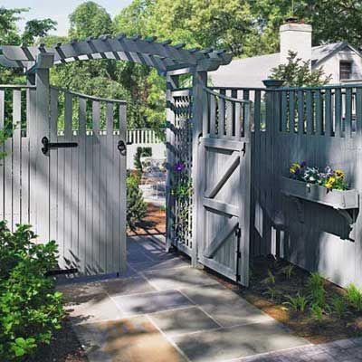 40 Best Fences Images On Pinterest Driveway Fence Wood