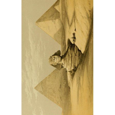 Posterazzi The Holy Land 1855 The Great Sphinx & Pyramids of Gizeh Canvas Art - David Roberts (24 x 36)