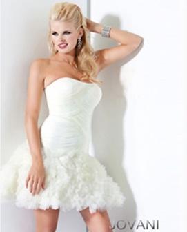 White Short Dress, Style 4203
