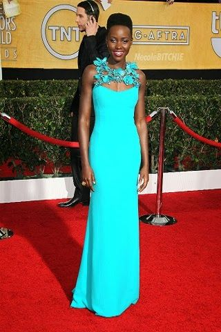 Lupita Nyong'o in Gucci http://fashionallovertheplace.blogspot.it/2014/01/20th-sag-awards-best-dressed.html