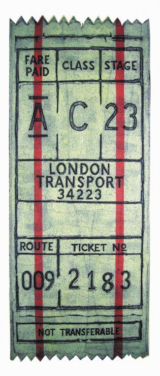 Barry Goodman | Ticket | #art | #London | #transport | #print