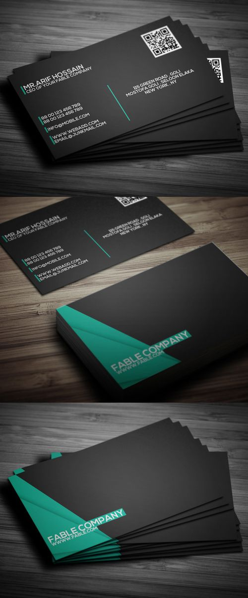 Clean Corporate Business Card Design                                                                                                                                                                                 More