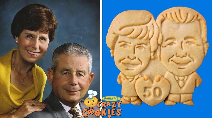 50th Anniversary Ideas - Custom Cookies - Heart Shaped theme - Valentine's Day ideas - Edible Favors
