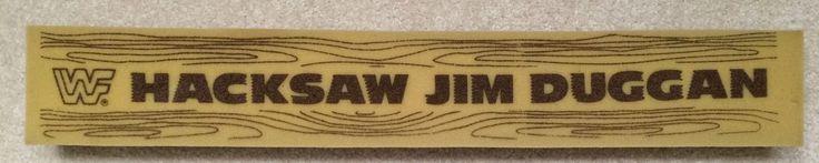Vintage WWF Hacksaw Jim Duggan Foam 2x4 Wrestling WCW WWE Mint | eBay