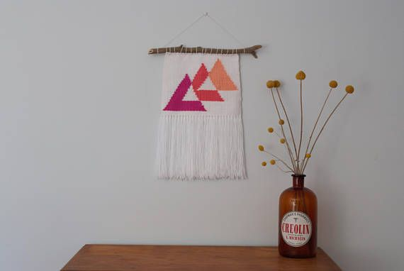 Medium Triangles Wall Weaving Loom Wall Hanging Tapestry