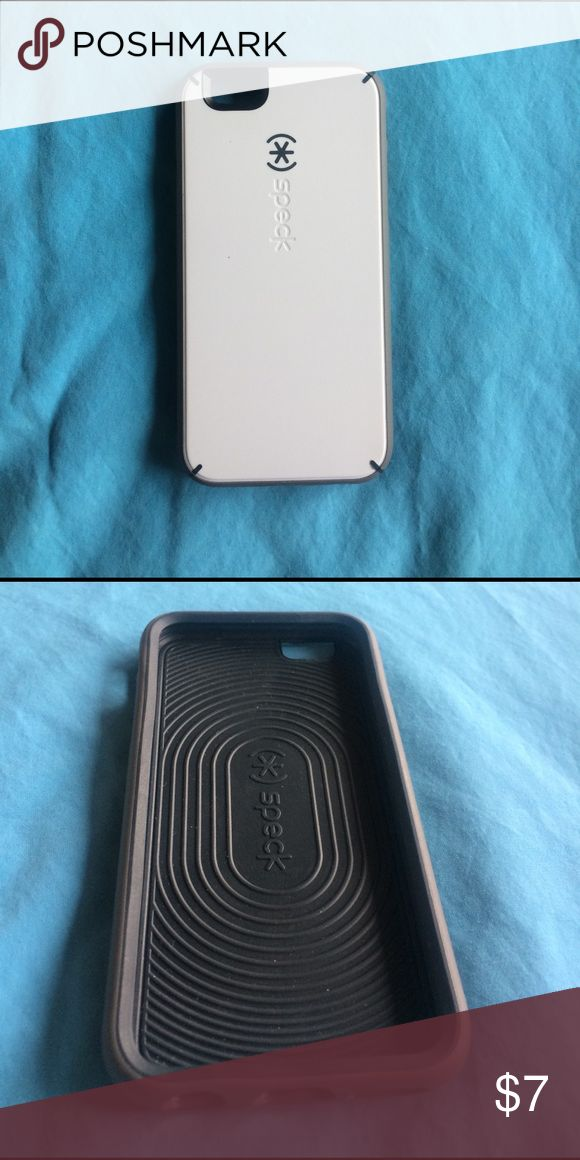 White and Grey Speck IPhone 6 case Perfect condition and never used :) white and grey. There is another speck case on my page and if you want both I'll give them both to you for $10 just let me know ! speck Accessories Phone Cases