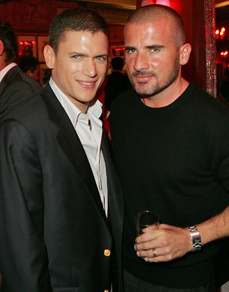 Dominic Purcell and Wentworth Miller, two sexy gay man.