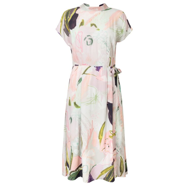 Buy the Doodle Floral High Neck Dress at Oliver Bonas. Enjoy free worldwide standard delivery for orders over £50.