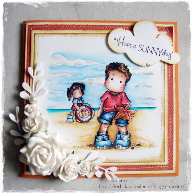 Timbroscrapmania #Stamping Challenge # 46 - Anything goes