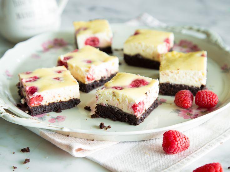 Klassiker unter sich: Himbeer-Cheesecake-Brownies