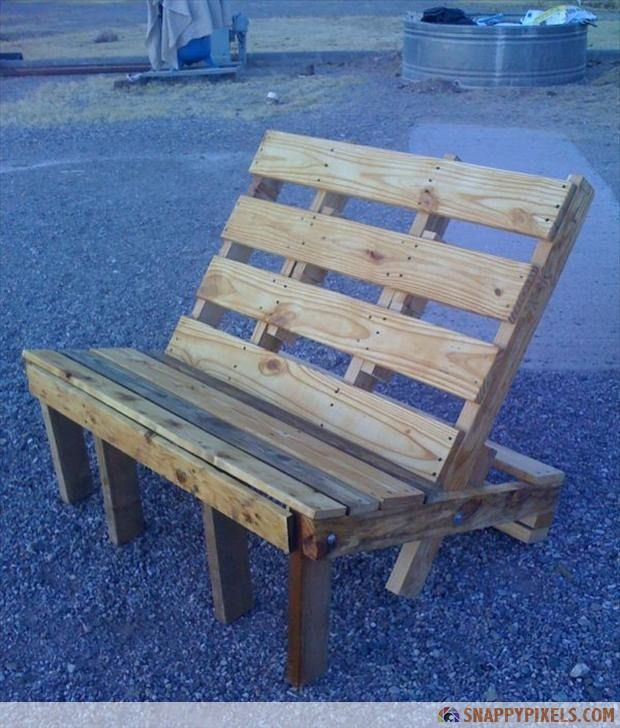 107 Used Pallet Projects and IdeasIdeas, Pallets Benches, Pallets Furniture, Pallet Benches, Wood Pallets, Diy, Pallets Chairs, Gardens Benches, Fire Pit