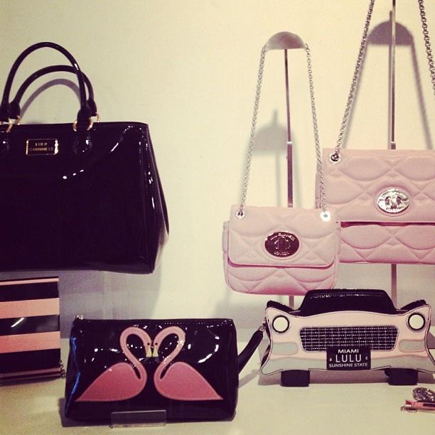 @lulu_guinness #ss13 #previews #miami #flamingos #pink #black #stripes - @peoplesrevteam- #webstagram