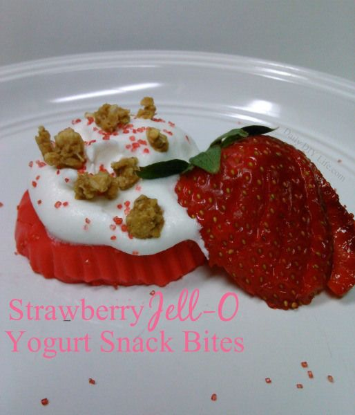 Better For You - Strawberry Jell-O Yogurt Snack Bites