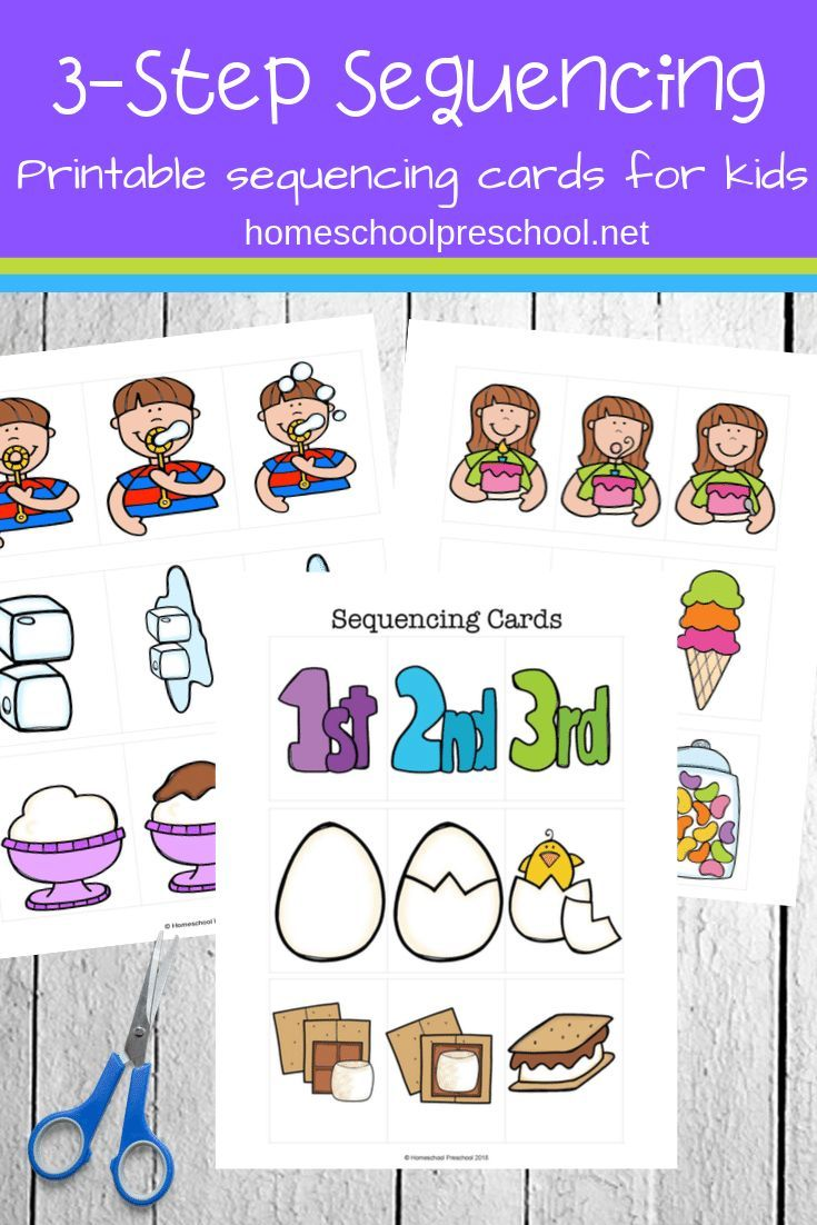 3 Step Sequencing Cards Printables For Preschoolers Sequencing Cards Preschool Activities Sequencing Activities