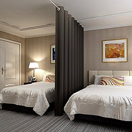 17 best ideas about room divider curtain on pinterest bed curtains canopy for bed and dorm. Black Bedroom Furniture Sets. Home Design Ideas