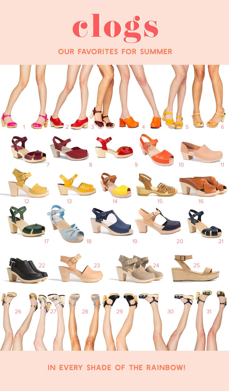 best clogs for spring and summer!