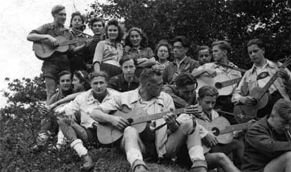 """Edelweiss Pirates - Subgroups of the Edelweißpiraten included the Navajos, centred on Cologne, the Kittelbach Pirates of Oberhausen and Düsseldorf, and the Roving Dudes of Essen. According to one Nazi official in 1941, """"Every child knows who the Kittelbach Pirates are. They are everywhere; there are more of them than there are Hitler Youth... They beat up the patrols... They never take no for an answer."""""""
