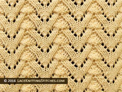 Norwegian Fir Lace Knitting stitch.
